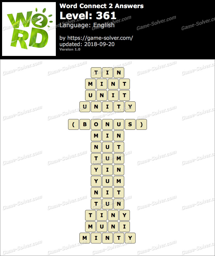 Word Connect 2 Level 361 Answers