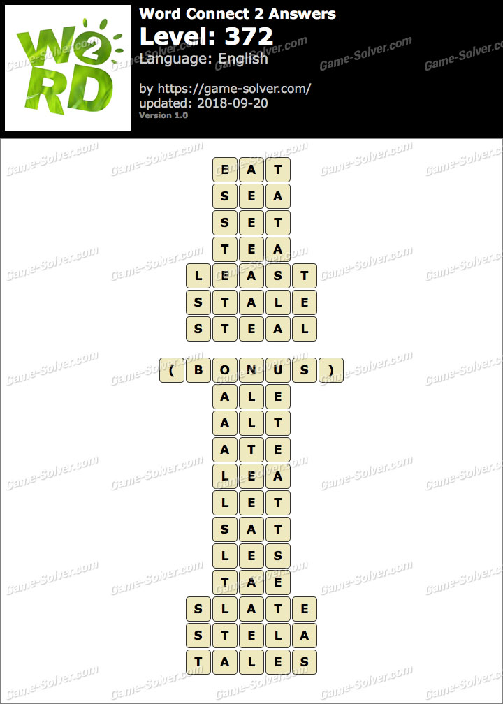 Word Connect 2 Level 372 Answers