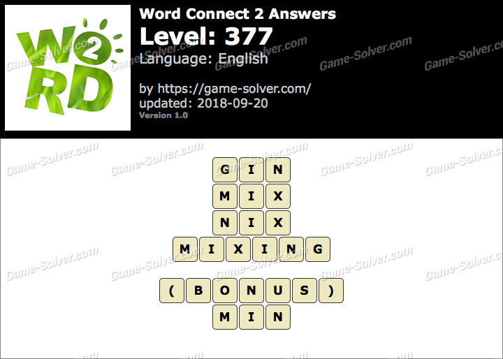 Word Connect 2 Level 377 Answers