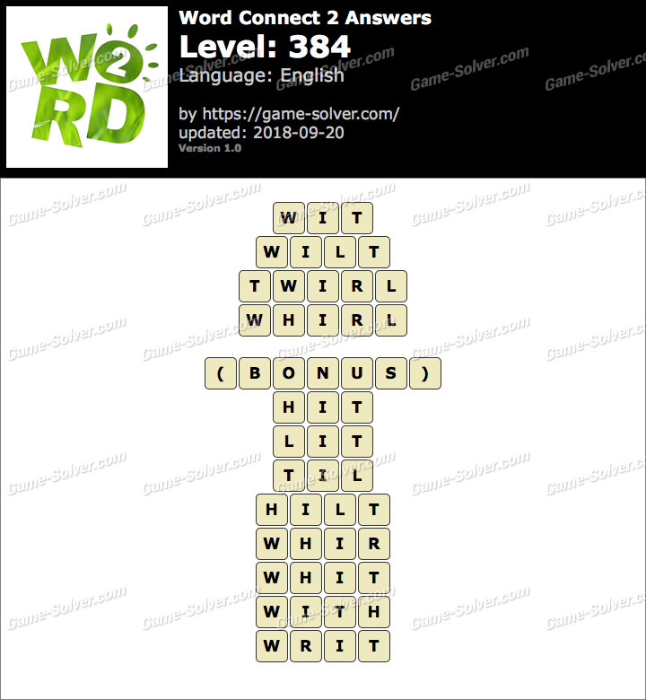 Word Connect 2 Level 384 Answers