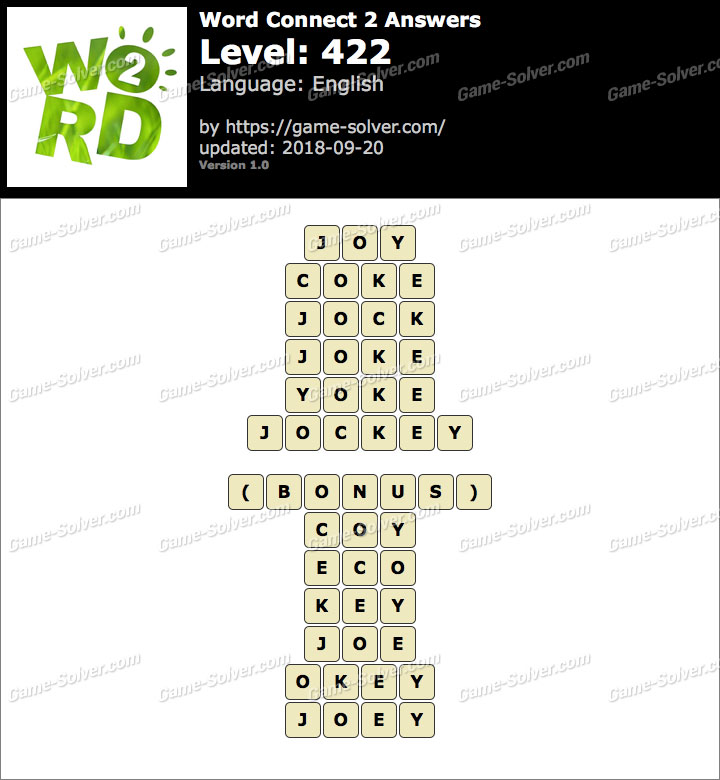 Word Connect 2 Level 422 Answers