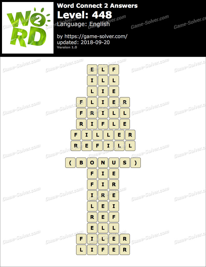 Word Connect 2 Level 448 Answers