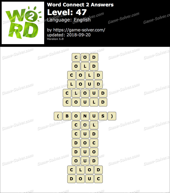 Word Connect 2 Level 47 Answers