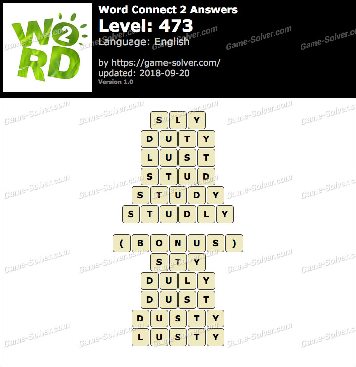 Word Connect 2 Level 473 Answers