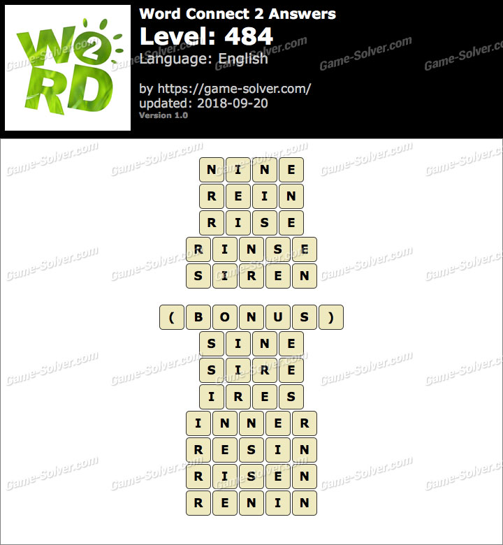 Word Connect 2 Level 484 Answers