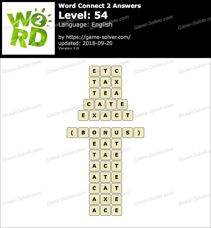 Word Connect 2 Level 54 Answers