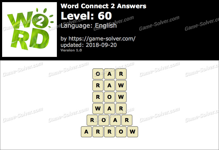 Word Connect 2 Level 60 Answers