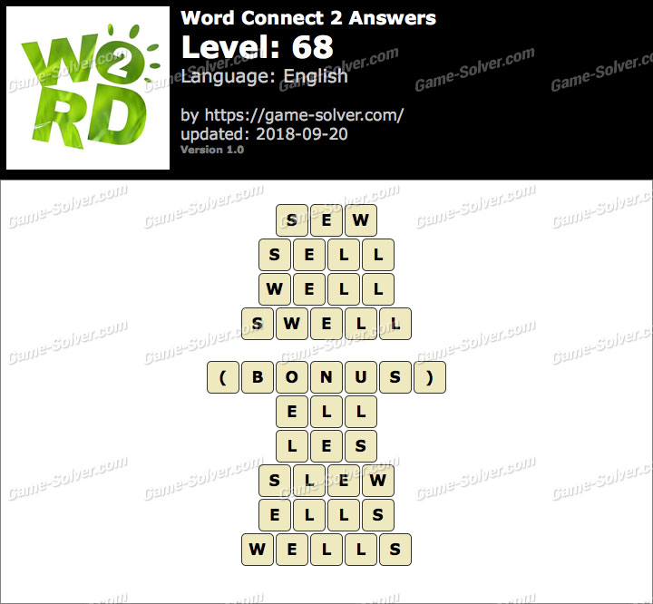 Word Connect 2 Level 68 Answers