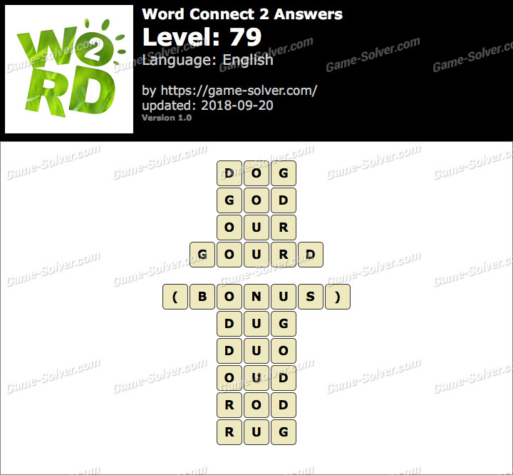 Word Connect 2 Level 79 Answers