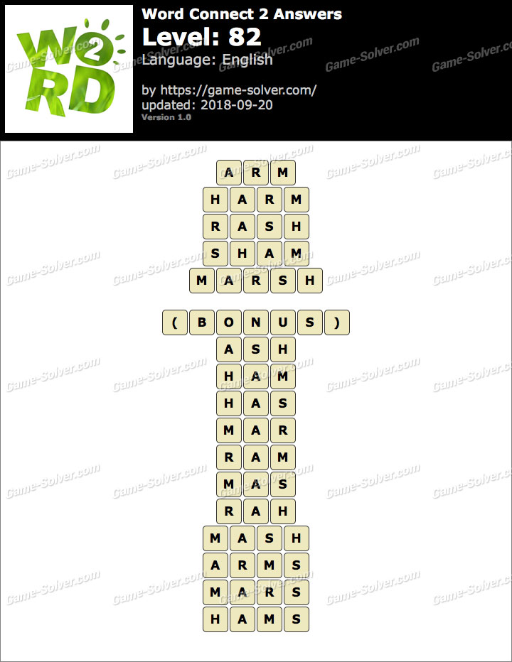 Word Connect 2 Level 82 Answers