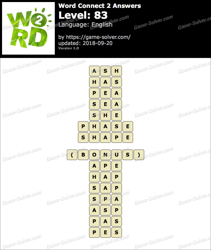 Word Connect 2 Level 83 Answers