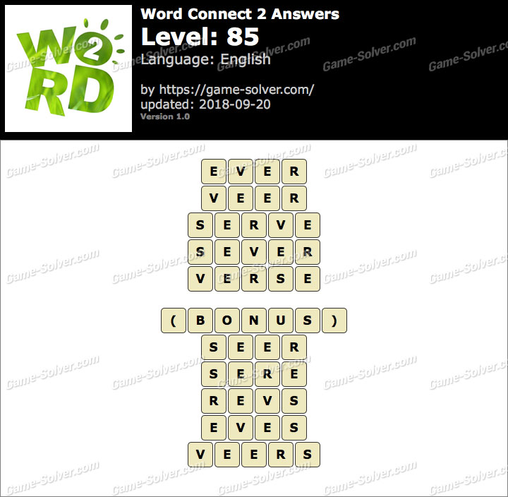 Word Connect 2 Level 85 Answers