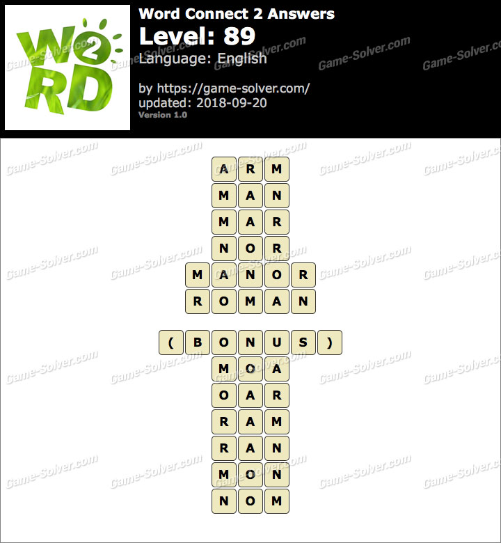 Word Connect 2 Level 89 Answers