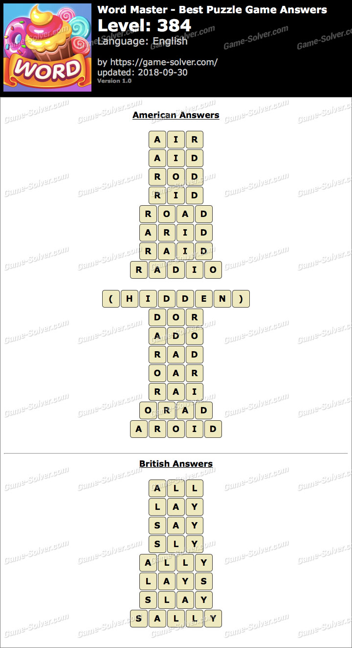 Word Master-Best Puzzle Game Level 384 Answers