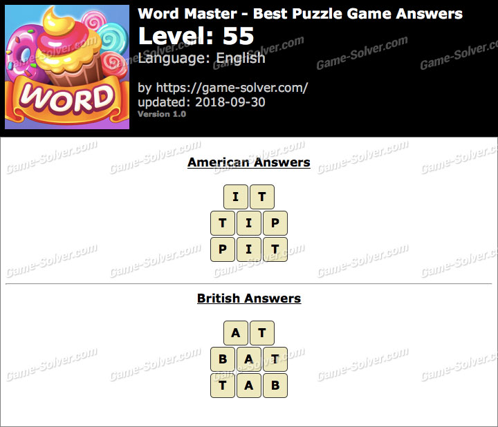 Word Master-Best Puzzle Game Level 55 Answers