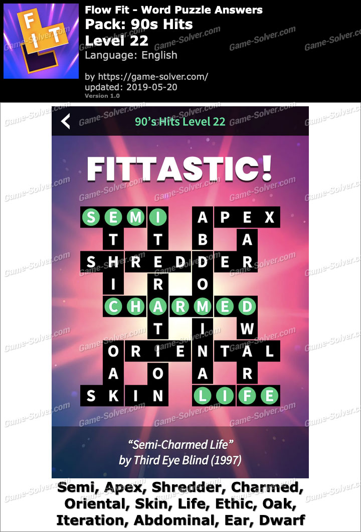 Flow Fit 90s Hits-Level 22 Answers