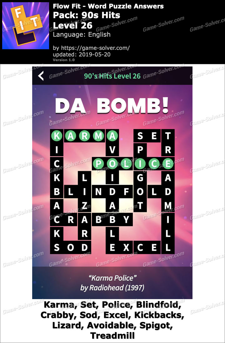 Flow Fit 90s Hits-Level 26 Answers
