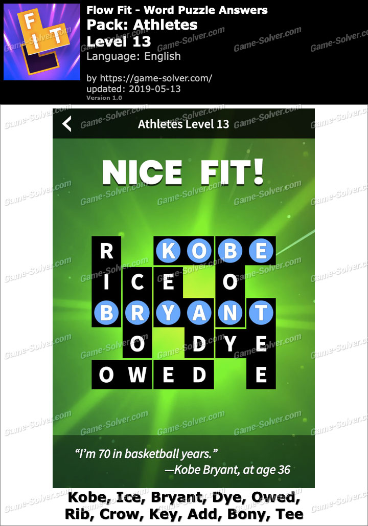 Flow Fit Athletes-Level 13 Answers