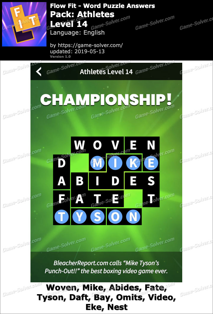 Flow Fit Athletes-Level 14 Answers