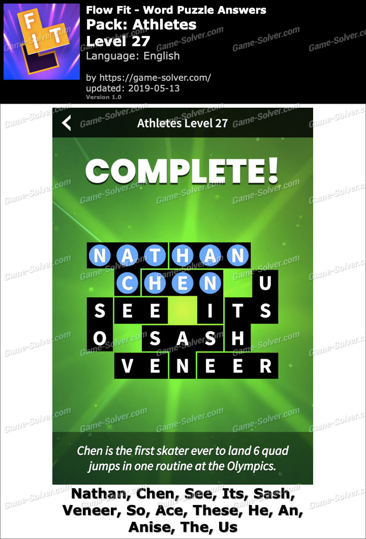 Flow Fit Athletes-Level 27 Answers