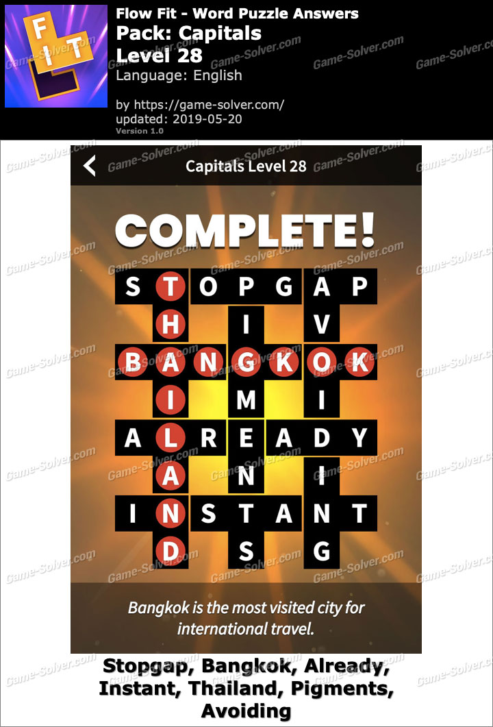 Flow Fit Capitals-Level 28 Answers