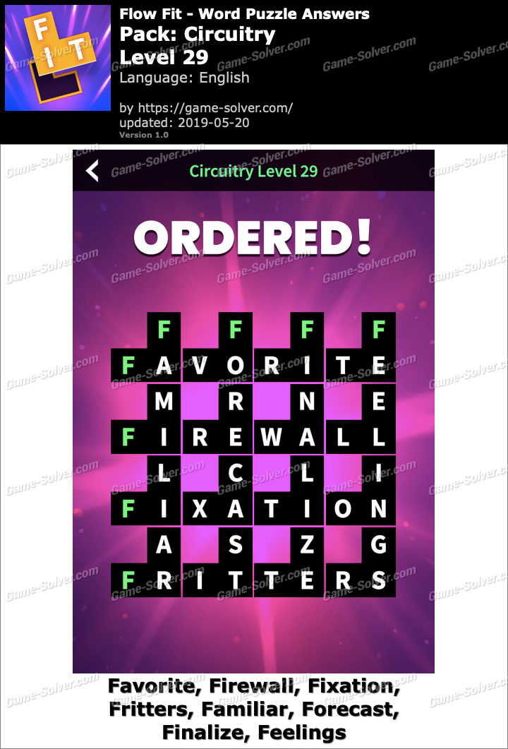 Flow Fit Circuitry-Level 29 Answers