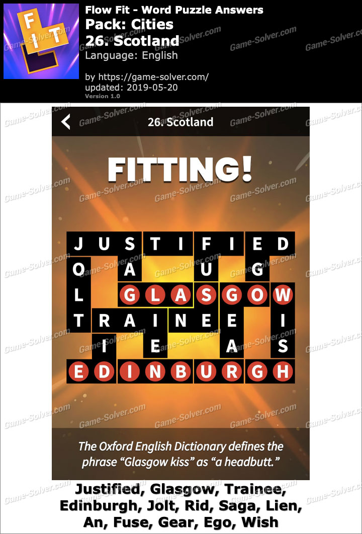 Flow Fit Cities-26 Scotland Answers