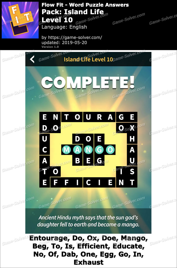 Flow Fit Island Life-Level 10 Answers