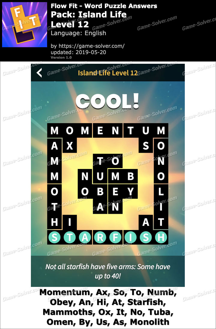 Flow Fit Island Life-Level 12 Answers