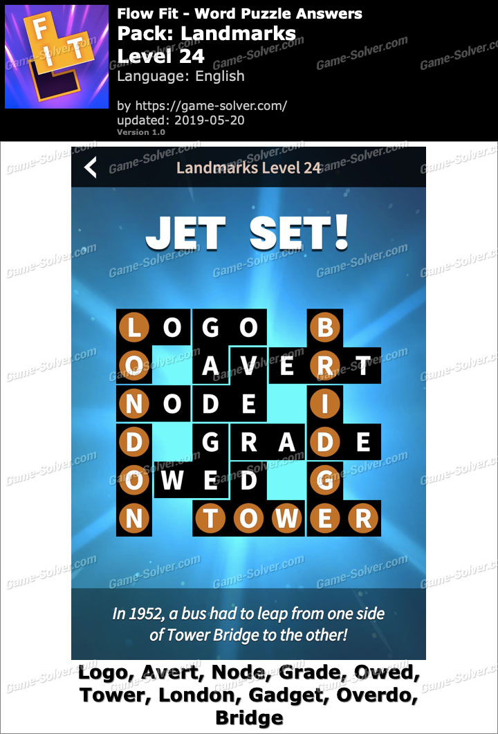 Flow Fit Landmarks-Level 24 Answers