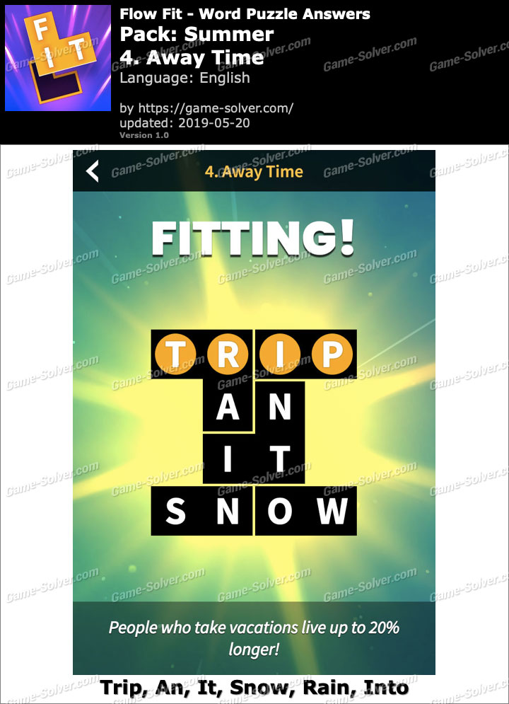 Flow Fit Summer-4 Away Time Answers
