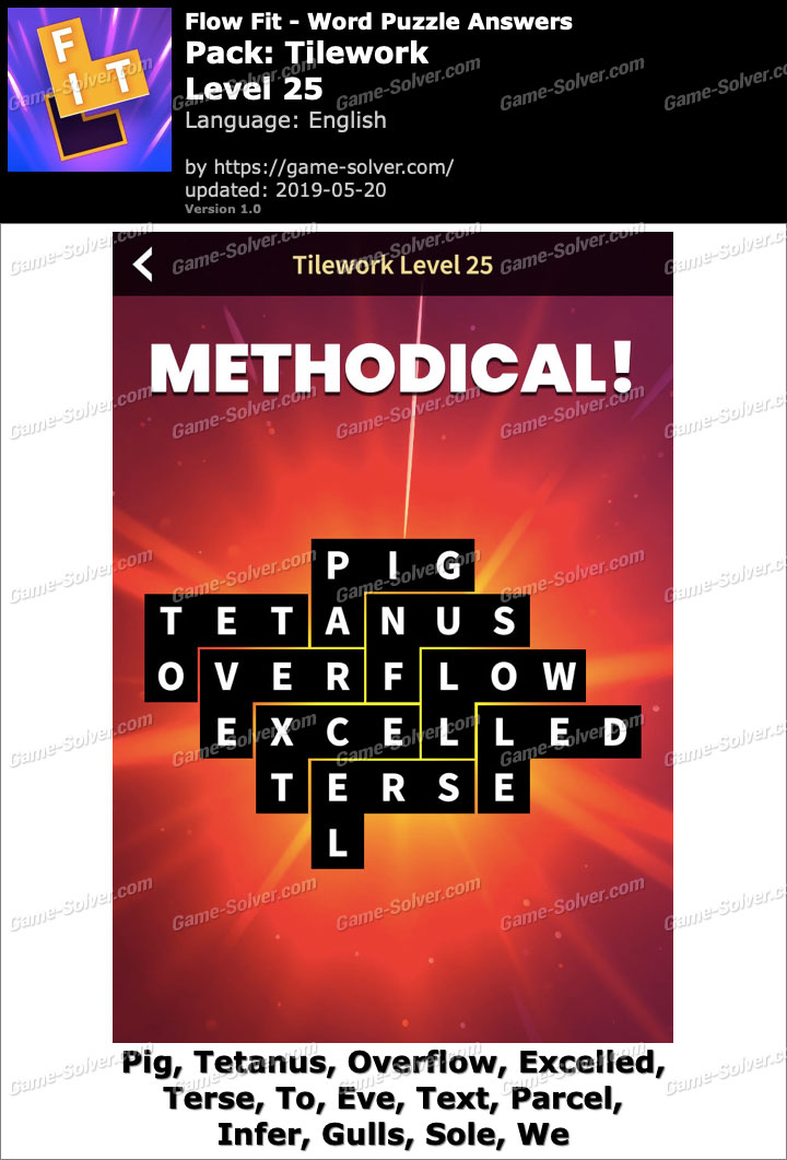 Flow Fit Tilework-Level 25 Answers