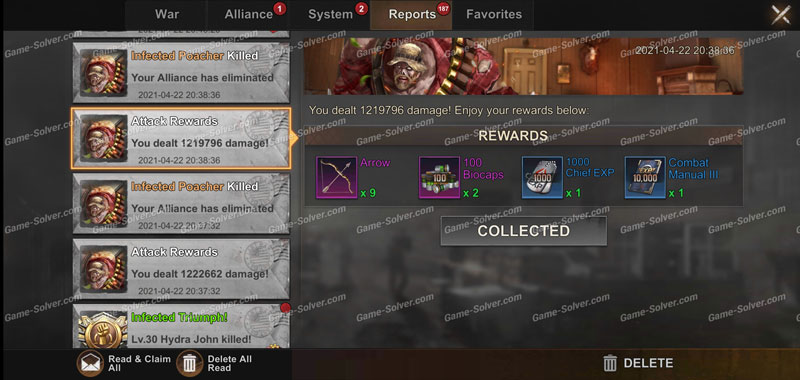 State of Survival Dedicated Infected Poacher Reward