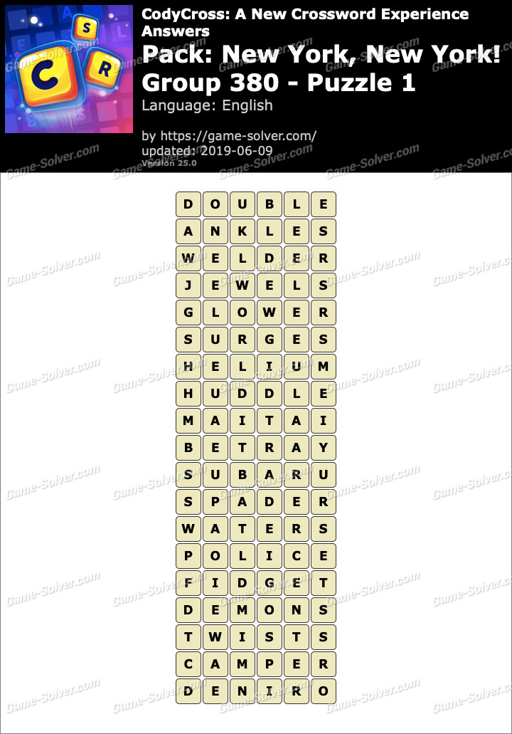 Glower crossword clue