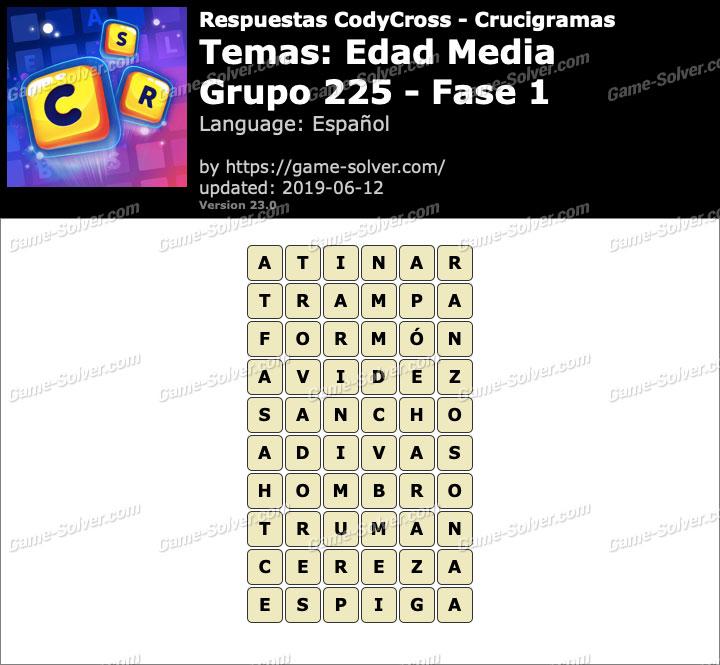 Respuestas CodyCross Edad Media Grupo 225-Fase 1