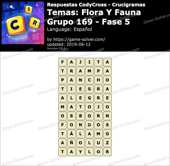 Respuestas CodyCross Flora y Fauna Grupo 169-Fase 5