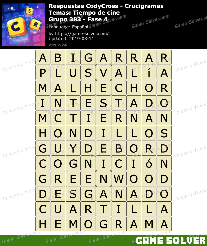 Respuestas CodyCross Tiempo de cine Grupo 383-Fase 4