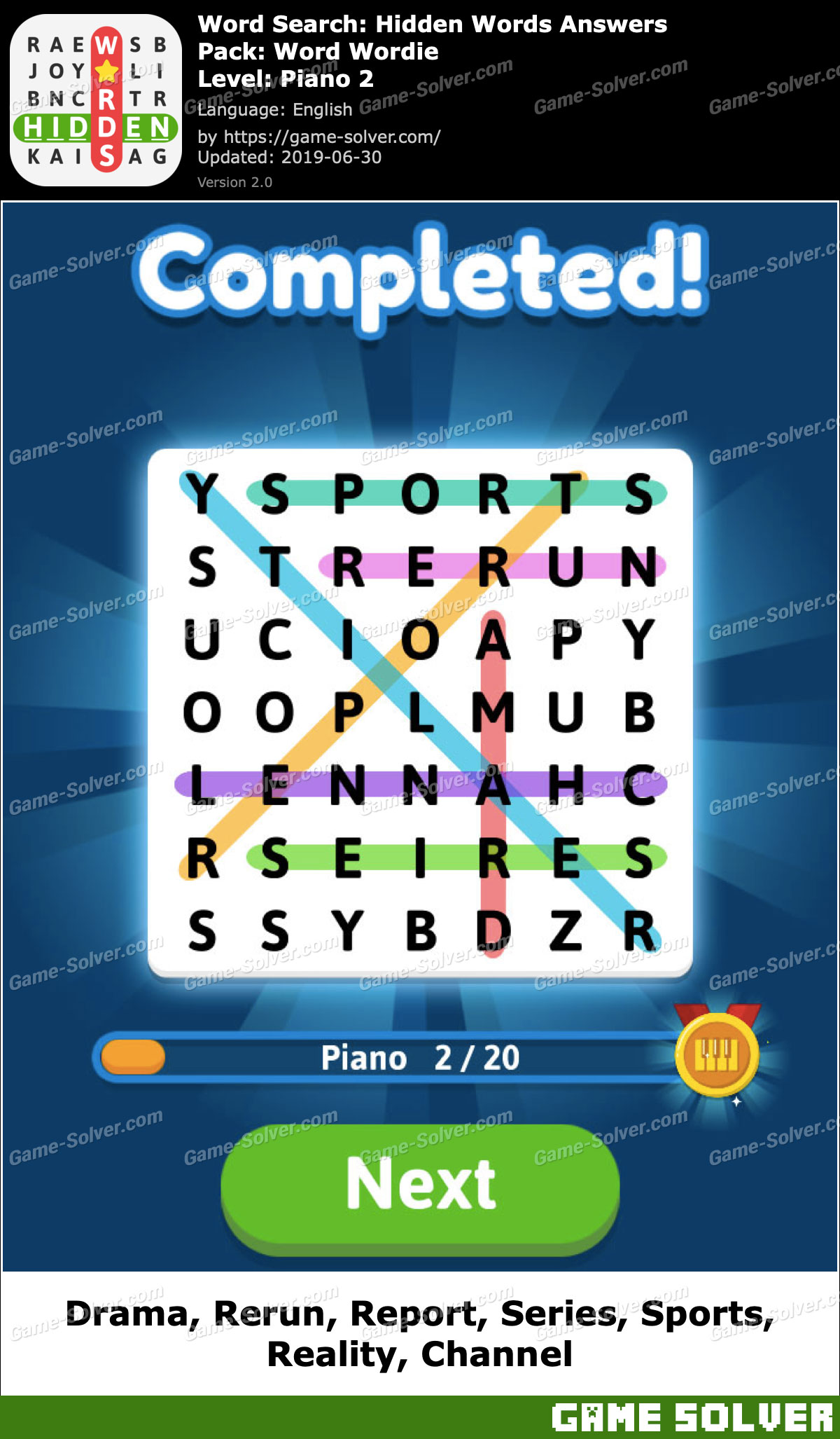 Word Search Hidden Words Word Wordie-Piano 2 Answers