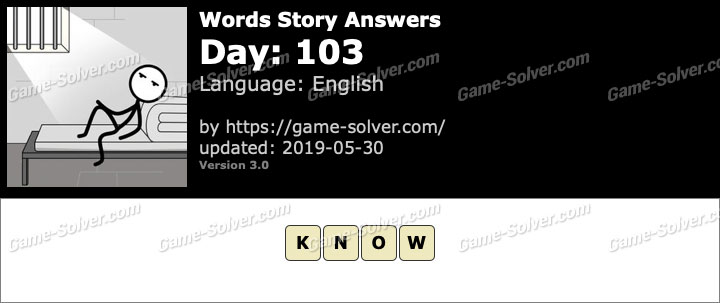 Words Story Day 103 Answers