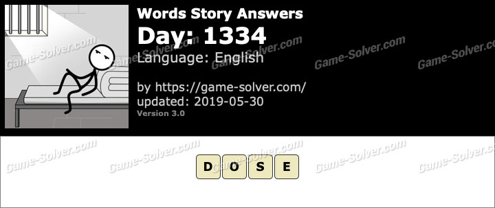 Words Story Day 1334 Answers