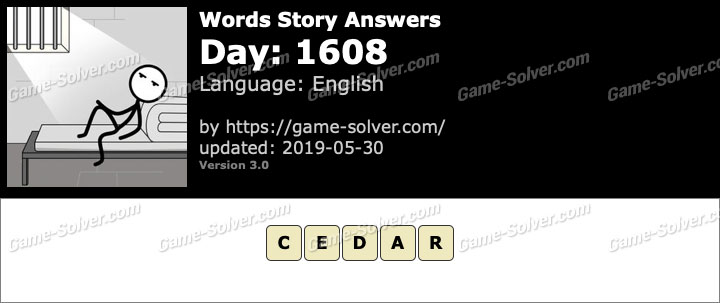 Words Story Day 1608 Answers