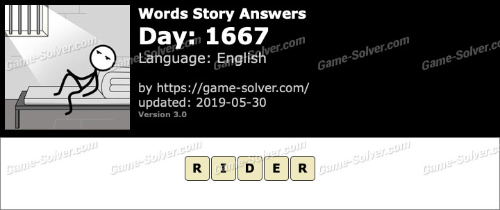 Words Story Day 1667 Answers