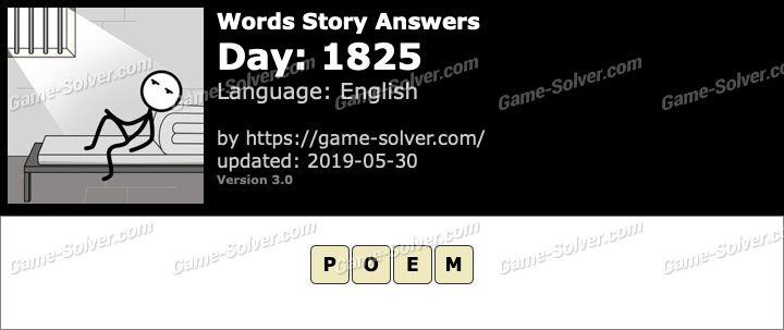 Words Story Day 1825 Answers