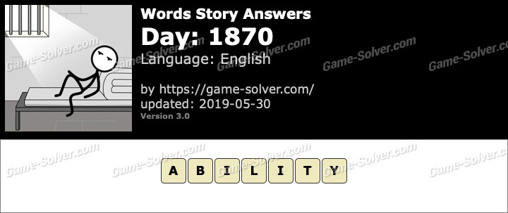Words Story Day 1870 Answers