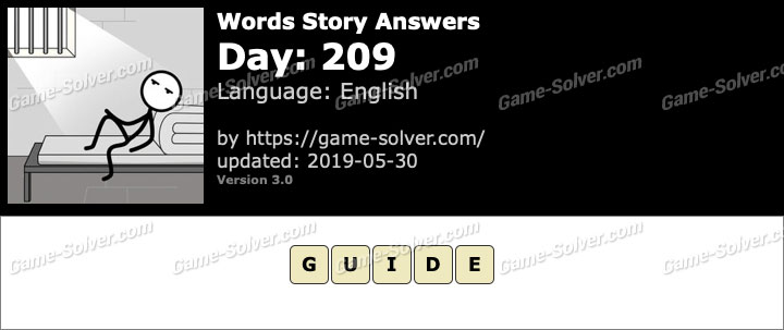 Words Story Day 209 Answers - Game Solver