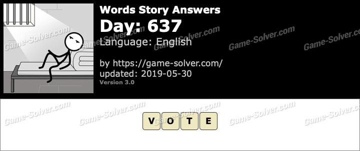 Words Story Day 637 Answers