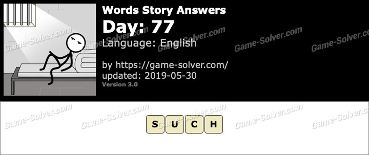 Words Story Day 77 Answers