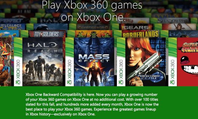 Xbox360games on XboxOne