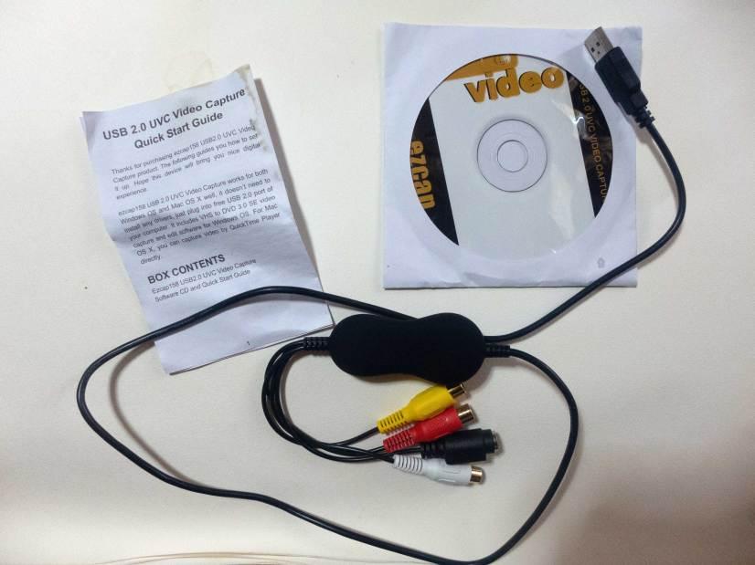 【令和2020最新版】USB2.0ビデオキャプチャー デジタルデータ化 接続 PC/DVDダビング ビデオ/VHS テープ dvd パソコン取り込み Windows 2000 / XP/Vista/Win 7/8/8.1/10対応 dvd パソコン 保存 Windows・Mac対応 の中味の写真