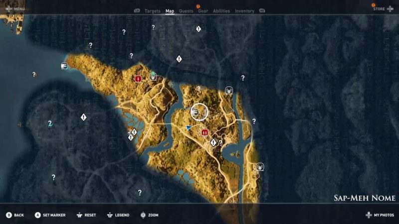 Assassin's Creed Origins - Emplacement Des Énigmes Papyrus Vallée Divisée solution